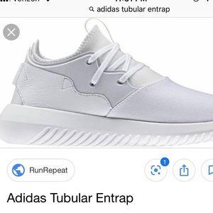 adidas white tubular entrap sneakers